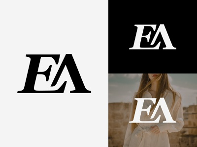 EA Logo letter logo creative monogram logo ea ea monogram ea logo luxury logo apparel logo sports logo fashion logo graphic design illustration design logotype identity logo design typography monogram logo branding