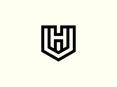 UH Logo or HU Logo shield logo vector logos monogram logo hu monogram hu logo hu uh monogram uh logo uh graphic design illustration design logotype identity logo design typography monogram logo branding