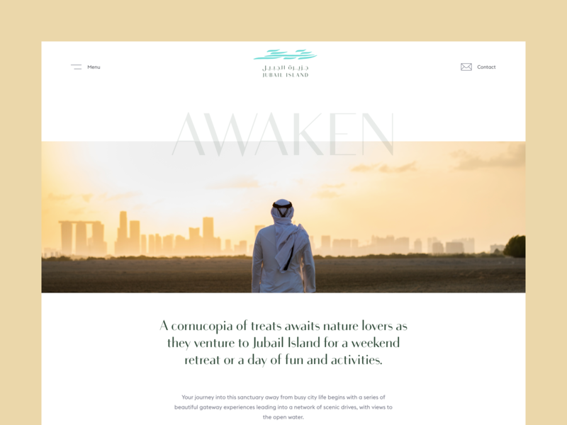 Pages - Jubail Island user experience user interface design branding flat inspiration minimal web ux ui