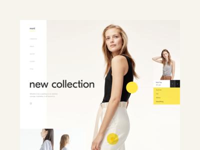 Morii Wear Website - Hero Section