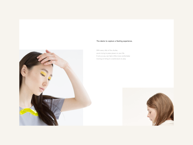 Morii Wear Website - About Section minimal branding brand minimal inspiration yellow feminine ecommerce design ux web ui