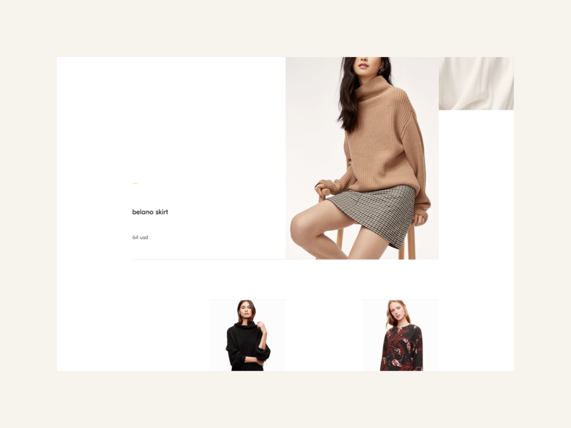 Morii Wear Website - Products inspiration ux design ui feminine women fashion ux design uidesign web minimal yellow fashion ecommerce clothing brand