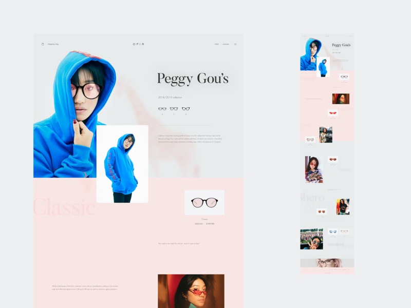 Glasses Collection Page [Peggy Gou] - Opia fashion eyewear opia rose feminine minimal inspiration peggy gou dj design ux web ui