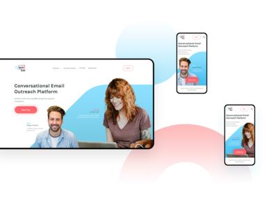 Lemlist Home Page [Desktop & Mobile Views]