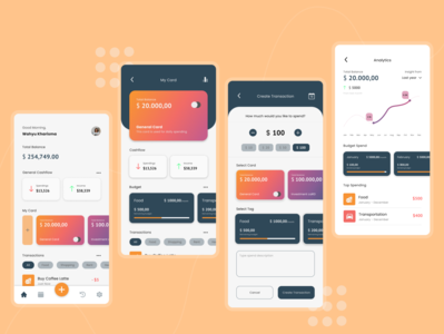 Money Management money management management money app design ui mobile mobile ui