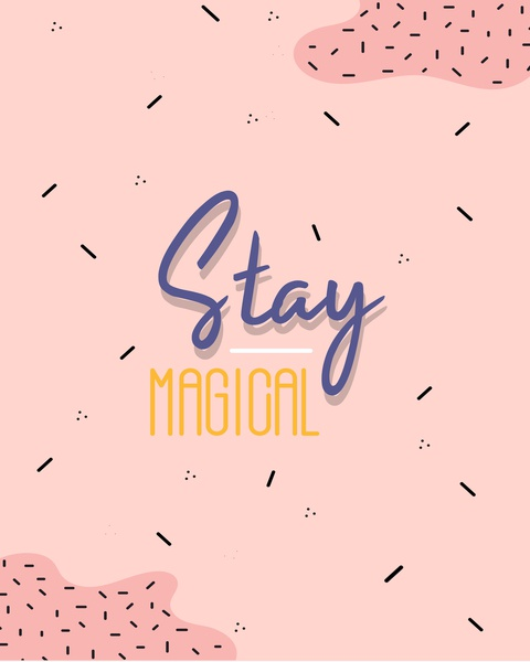 stay magical lettering branding website web logo vector ux ui typography illustrator illustration icon graphic design flat design character art