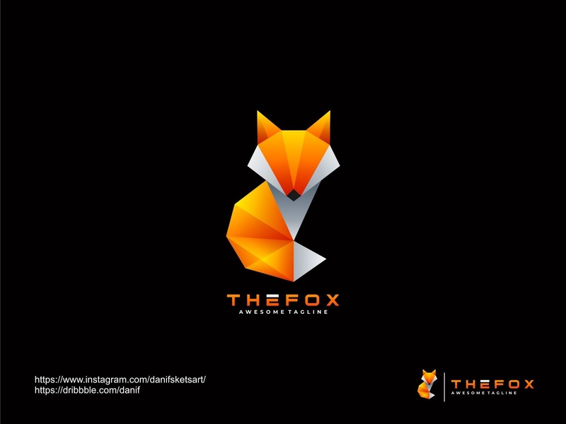 Fox abstract technology company media logo icon mascot colorful design branding vector fox logo animal logo fox