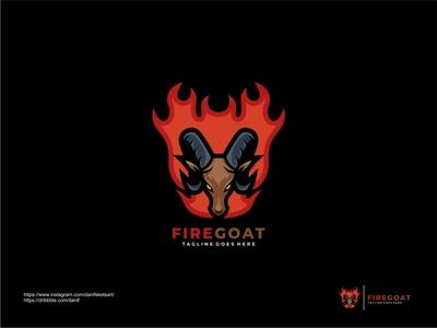 FIRE GOAT company logo company branding mascot icon logo illustration vector animal logo animal fire goat logo goat