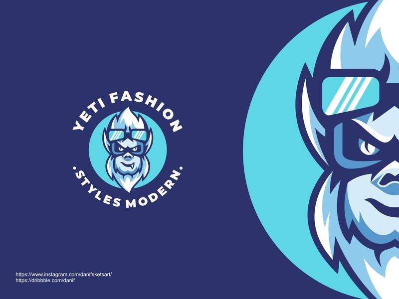 Yeti fashion animal illustration media design branding vector illustration icon logo animal logo mascot yeti