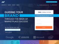 Site Re-branding blues ornage purple blue forms marketplace