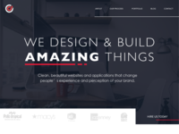New Homepage red blue web design agency firm portfolio web design