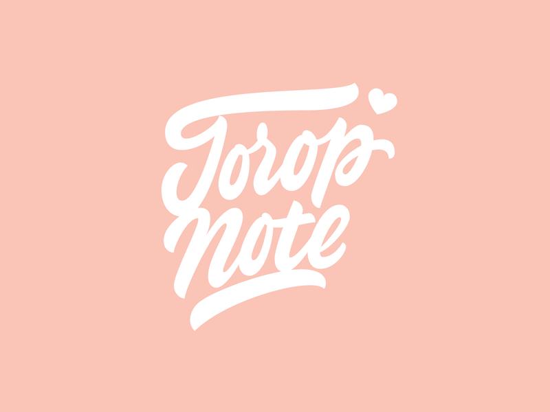 ToropNote brand branding vetoshkin design logotype brushpen logo lettering hand-lettering