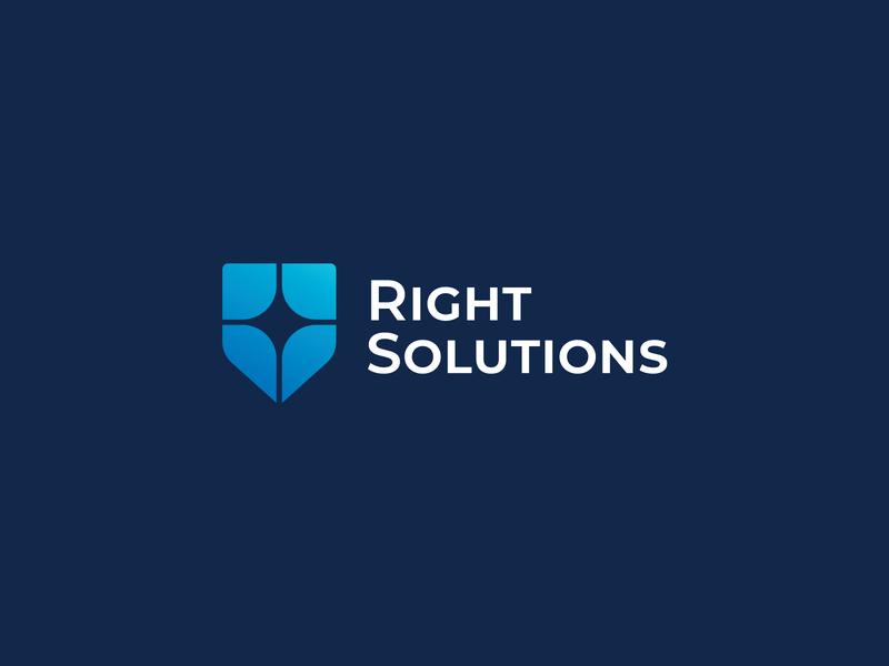 Right Solutions sign identity brand law firm mark vetoshkin design logotype logo branding