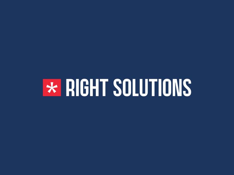 Right Solutions law firm brand design identity sign mark vetoshkin logotype branding design logo