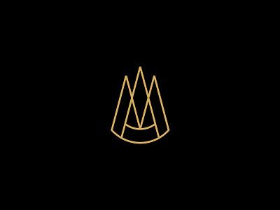 AM monogram identity am brand sign mark monogram logotype vetoshkin logo branding design