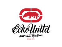 One of the options of the lettering t-shirt for EckoUnltd