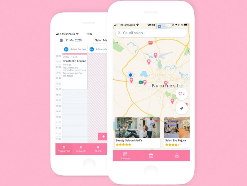 Salon Appointments booking app. app ui ux uiux uidesign mobile design mobile app mobile saas salons appointment booking appointments