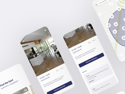 Homes Rental App uiux uidesign ui mobile design mobile romanian romania bucharest mobile app mobile ui apartments rental app app renting rental
