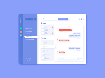 Direct Messaging - DailyUI #013 dashboard clean dailyui013 dribbble direct messaging illustration illustrator dailyui design ui chat message