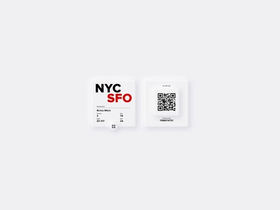 Smartwatch Boarding Pass | DailyUI #024
