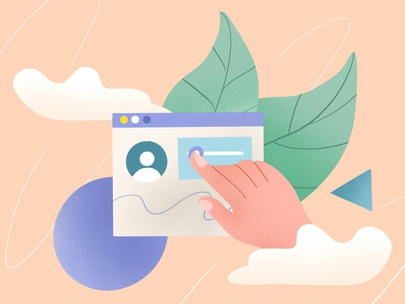 edit profile dribbble profile abstract leaves file manager file upload file design procreate illustration