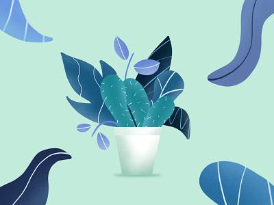 plant-o-logy dribbble cactus lavender purple green blue tosca lines brush digital art drawing illustration design plants