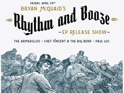 Bryan McQuaid Rhythm and Booze EP Release Show vincent chet armadillos luc paul booze rhythm pittsburgh mcquaid bryan