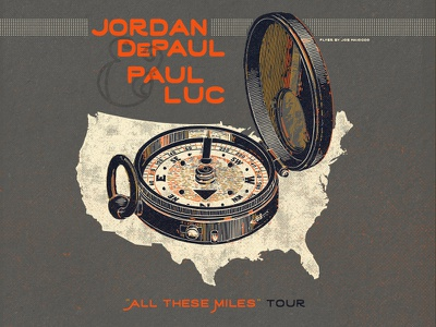 "Jordan DePaul & Paul Luc ""All These Miles"" Tour usa compass tour miles luc paul depaul jordan"