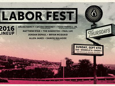 2016 Labor Fest Branding branding fest labor