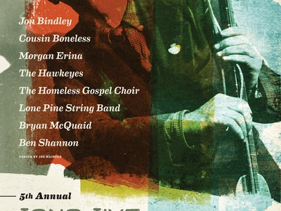 5th Annual Long Live Woody Guthrie Tribute stripes weathered punk folk guthrie woody