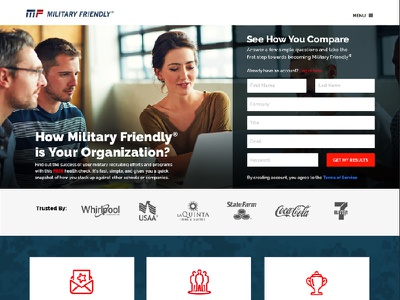 Military Friendly - Health Check web design icon ui ux web page friendly military