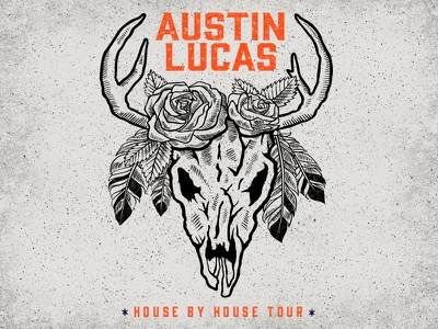 Austin Lucas :: House By House Tour illustration roses skull lucas austin