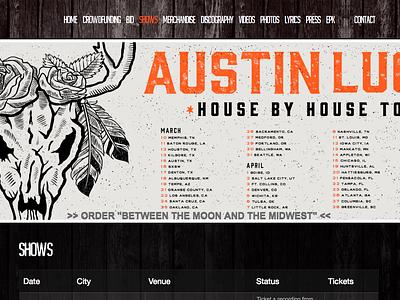 Austin Lucas :: House By House Tour illustration roses skull lucas austin
