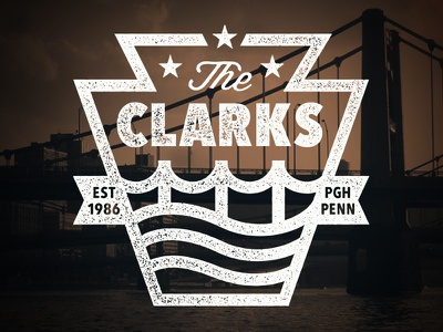 The Clarks vintage steelers water river pittsburgh bridge clarks
