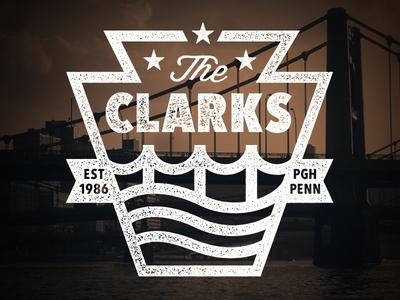 The Clarks vintage steelers water river pittsburgh bridge clarks