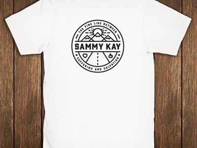 Fine Line Between Suffering and Salvation :: Sammy Kay kay sammy illustration bold lines road faith sun mountains