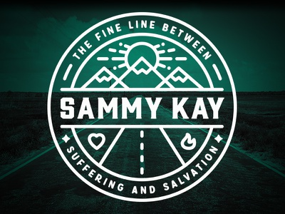 Fine Line Between Suffering and Salvation :: Sammy Kay kay sammy illustration bold lines road faith sun mountains