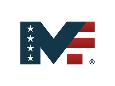 Military Friendly® Logo :: Initial Mark usa stars rebrand patriotic military logo icon friendly flag bold america