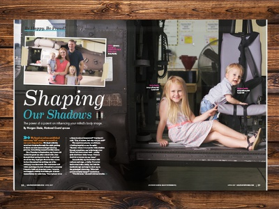 Month of the Military Child :: Military Spouse Magazine grid editorial print publication magazine spouse child military
