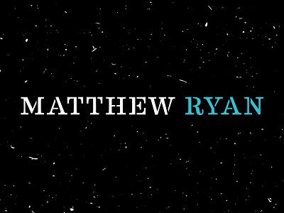 Matthew Ryan :: Lettering / Word Mark cohen division joy clash lettering logo mark word ryan matthew