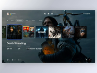 PlayStation 5 Dashboard Concept animation interface tv ui interaction ps play game dashboard concept playstation ps5