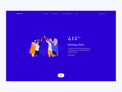 Save the Planet | Adobe XD Playoff illustration dribbble gif animation clean design ux ui web playoff footprint carbon planet