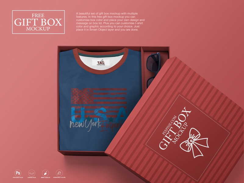 Gift Box Mockup Designs Themes Templates And Downloadable