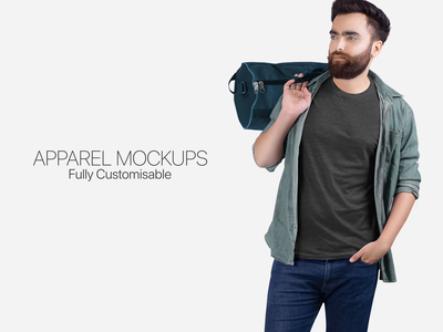 Great Collection of Apparel Mockups