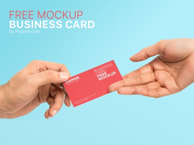 Free Holding Business Card Mockup