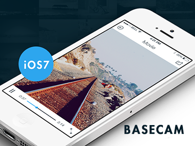 Basecam - Movie Player mobile flat design ios7