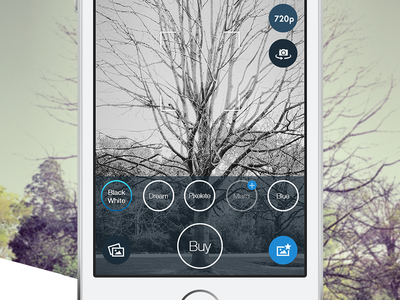 Basecam - Effects&Filters mobile flat design ios7