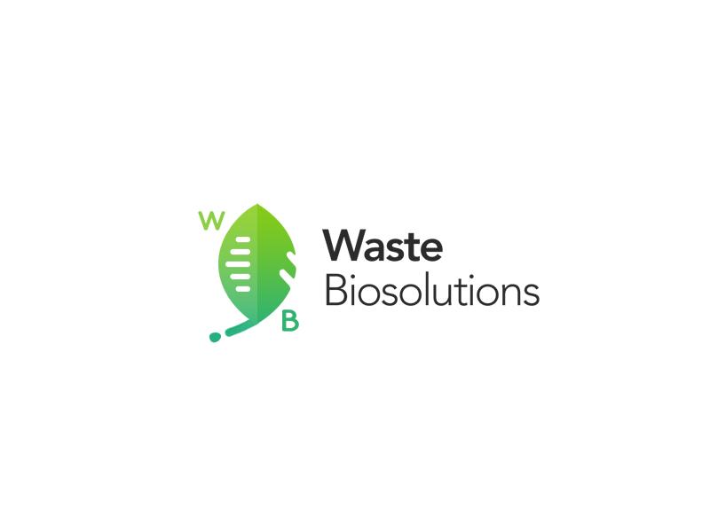 Waste Biosolutions Logo waste biosolutions bio eco ecology innovation logo branding identity