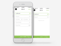 Basil - Login & Sign Up - Mobile iOS