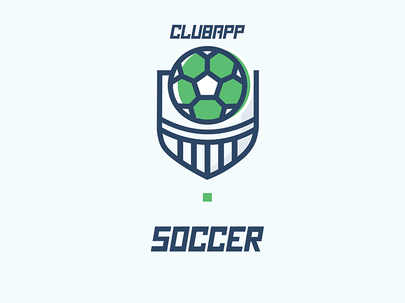 Clubapp - Soccer Icon branding logo ball football soccer shield app club illustration